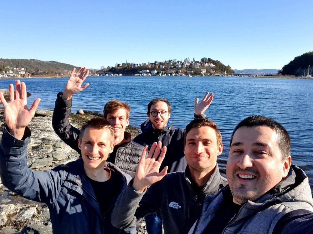 Hunter's team enjoying Norway