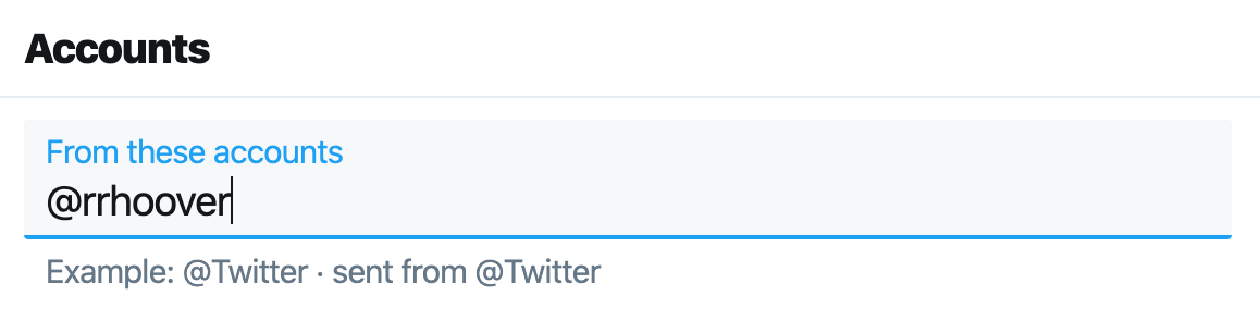 Find someone's email address with Twitter Advanced Search