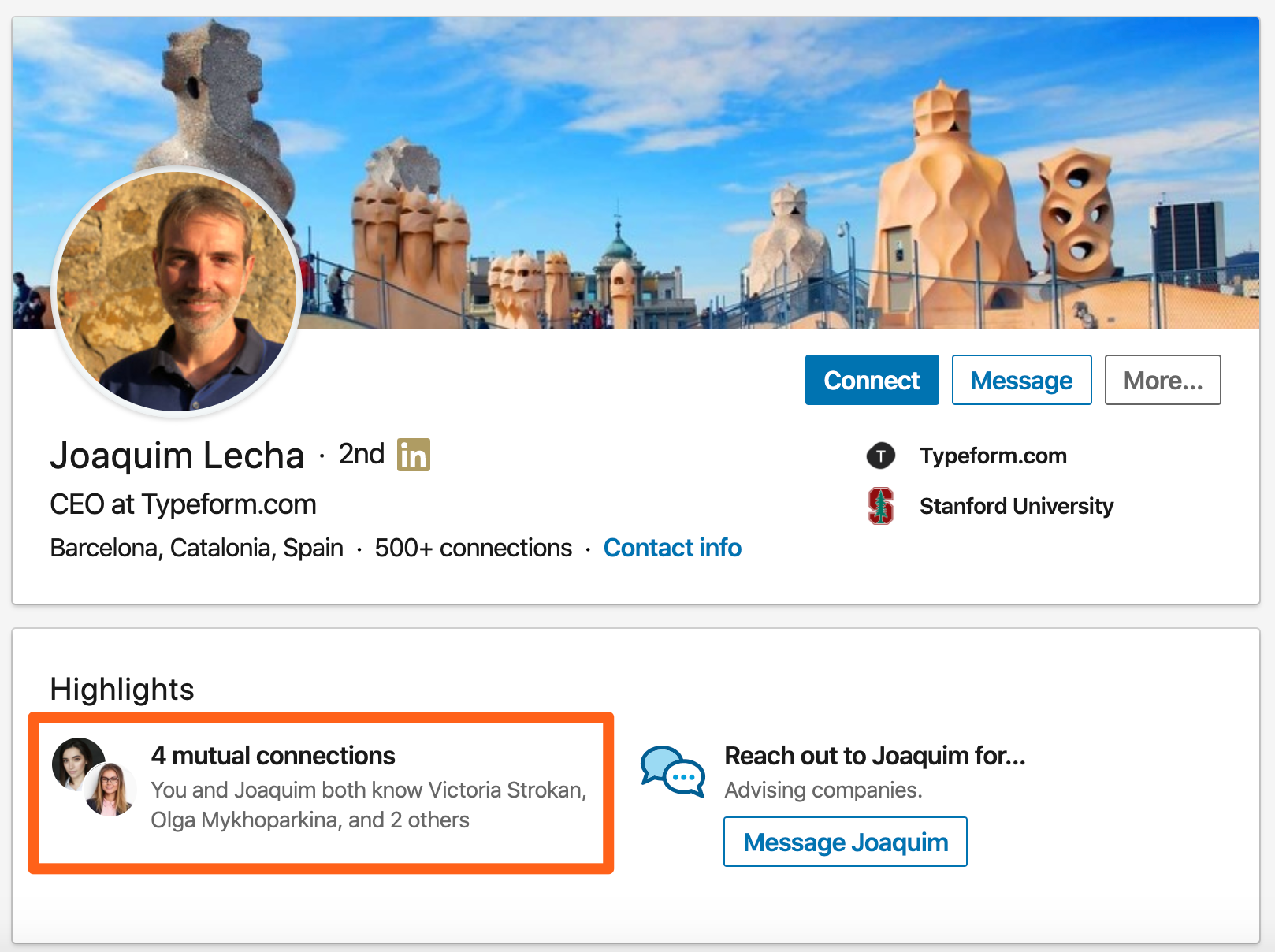 Get someone's email address from LinkedIn