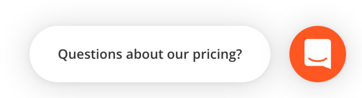 Intercom's bubble on Hunter's pricing page
