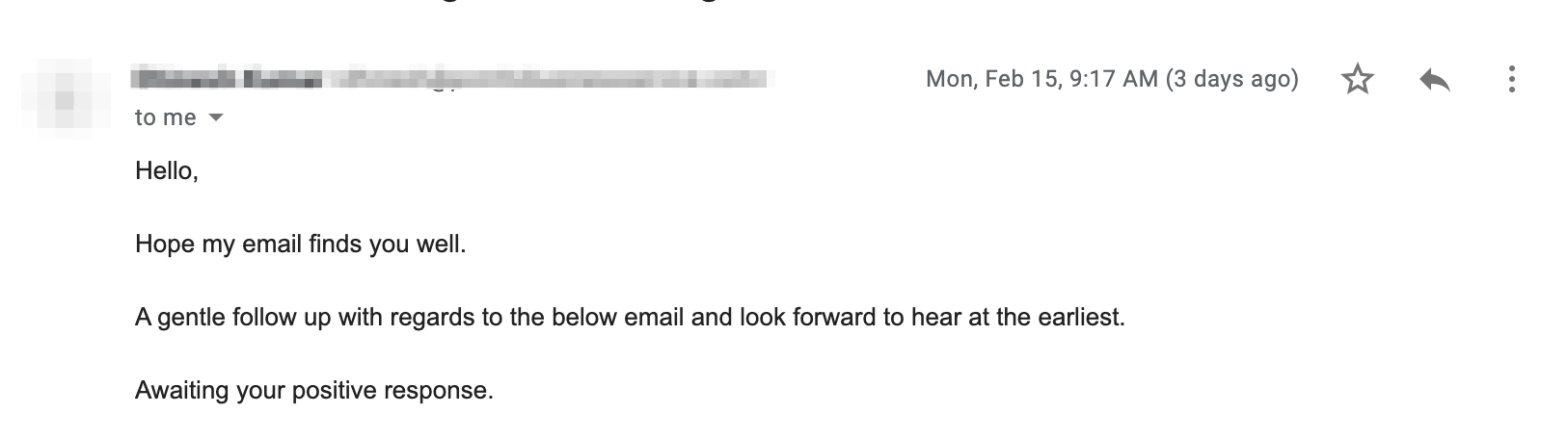 Cold email without call-to-action