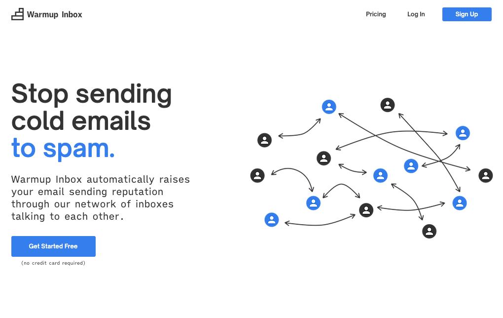 Warmup Inbox homepage
