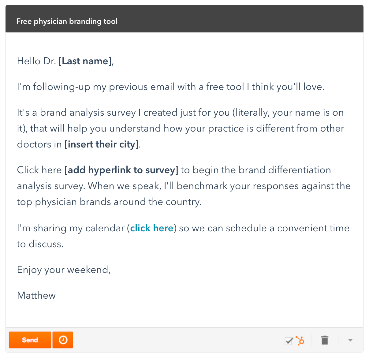 Cold email sequence example