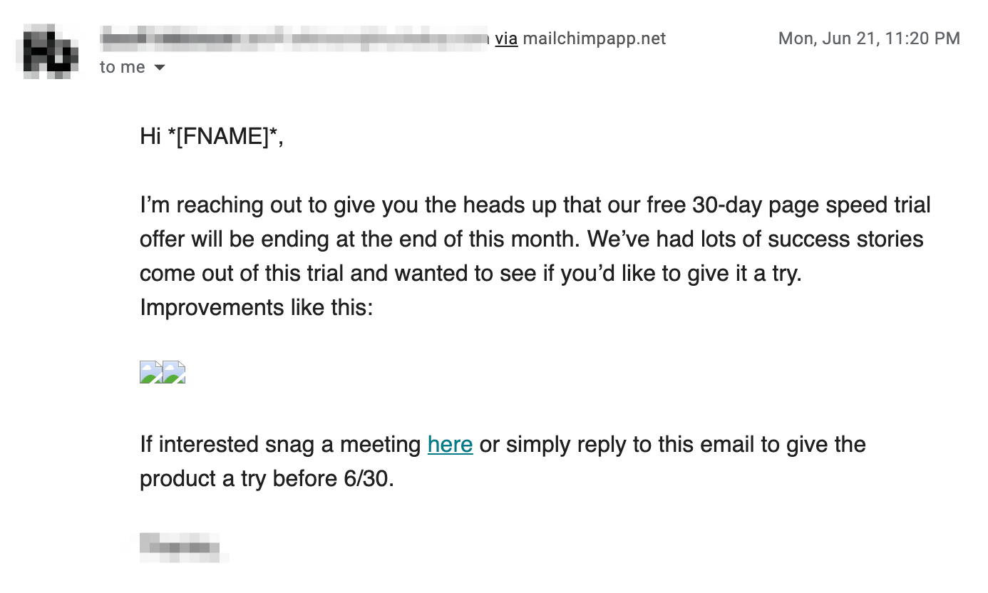 engaging cold email example