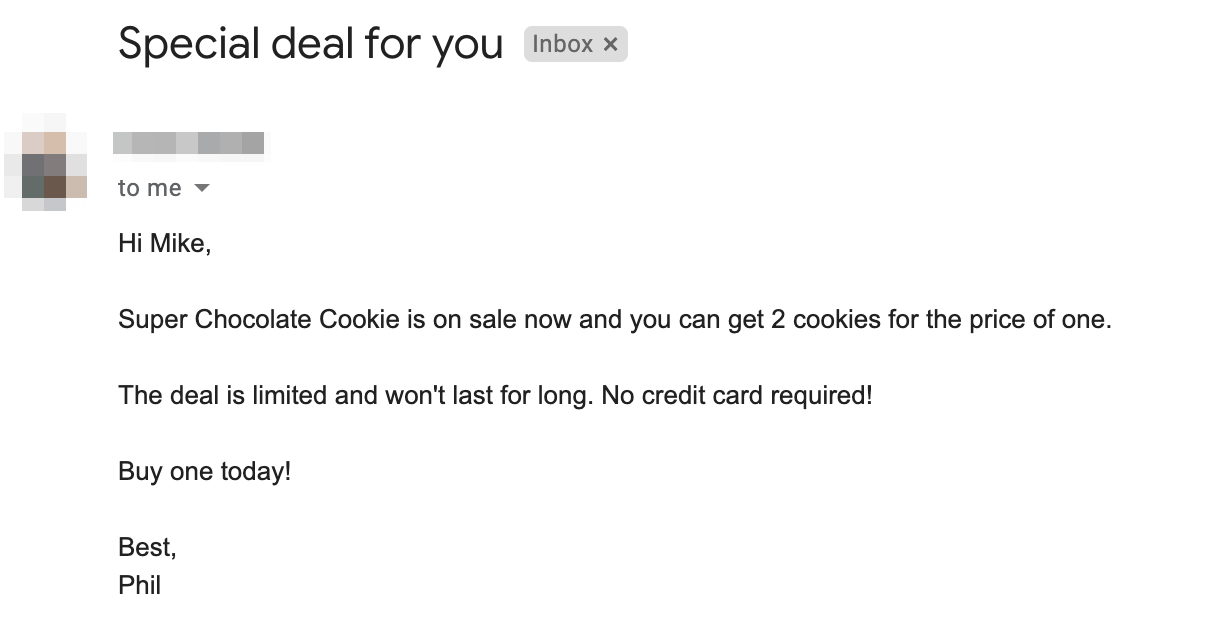 Spammy email